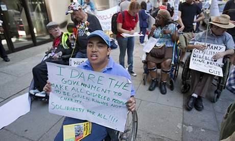 disability protest against cuts